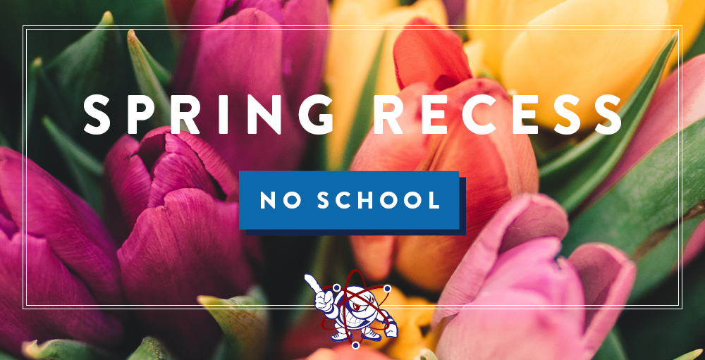 There will be no school on Friday, April 3rd through Monday April 13th