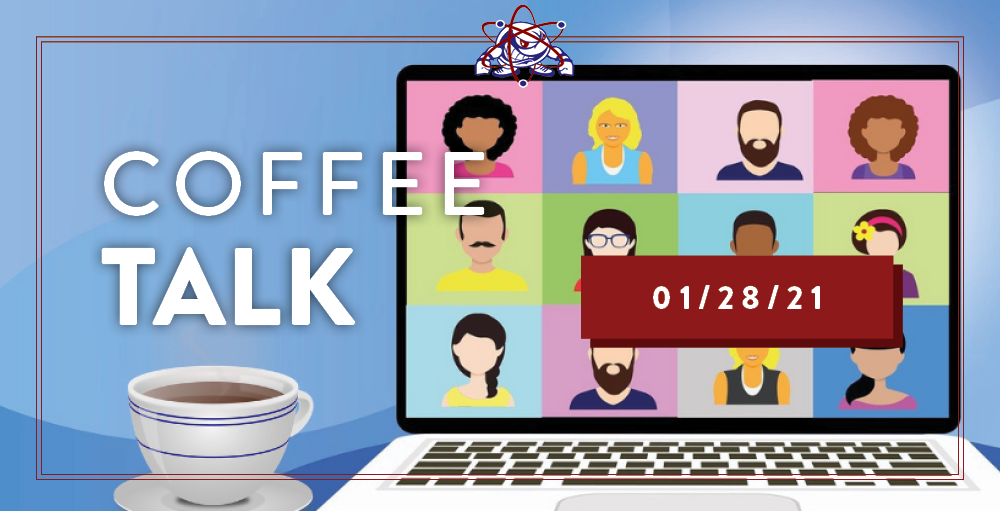 Utica Academy of Science middle school invites the families of hybrid learning students to attend its January Coffee Talk where they will discuss students' safely returning to campus for hybrid learning next week.