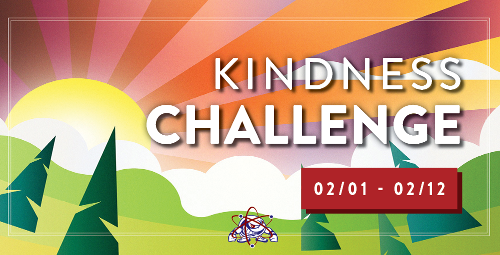 Utica Academy of Science high school invites students to participate in a Kindness Challenge from February 1st through February 12th.