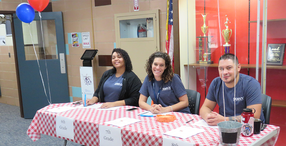Middle school hosts its Welcome Back BBQ where families could meet the teachers and students could sign up for clubs and activities