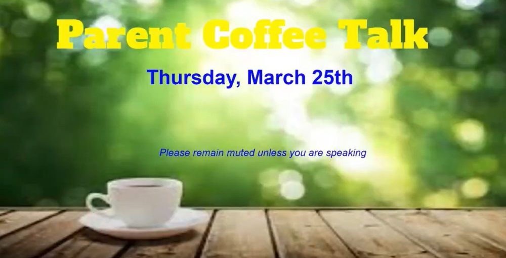 Utica Academy of Science middle school hosted a virtual Coffee Talk on March 25th for families to learn about upcoming items and events for the 4th marking period.
